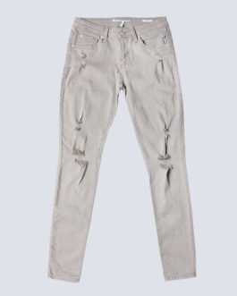 Ladies grey stretch denim jeans